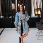 Elliatt Meridian chambray dress worn by Australian fashion blogger Inspiring Wit with St Xavier silver metal bag and Midas flatform brogues