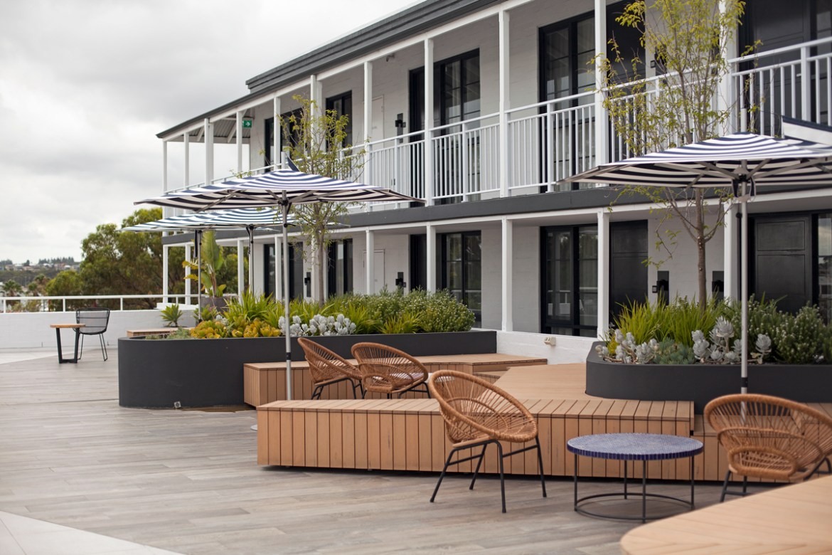 Tradewinds Hotel Perth rooftop