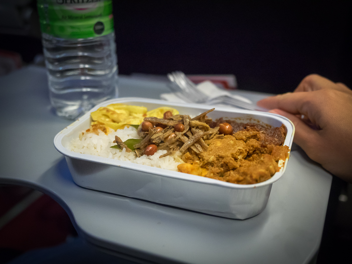 In flight meal flying with AirAsia from Perth to Penang with travel blogger Inspiring Wit