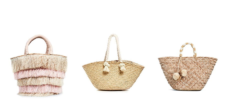 Straw bags from the June Shopbop sale on sale Inspiring Wit curated