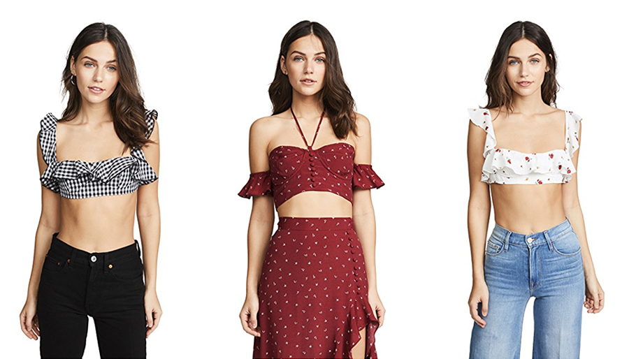 Shopbop sale June Summer crop tops curated by Inspiring Wit blogger