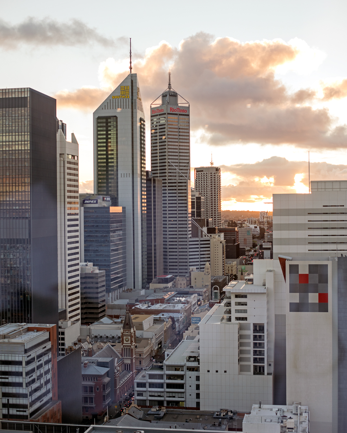 The Westin Perth view of the CBD
