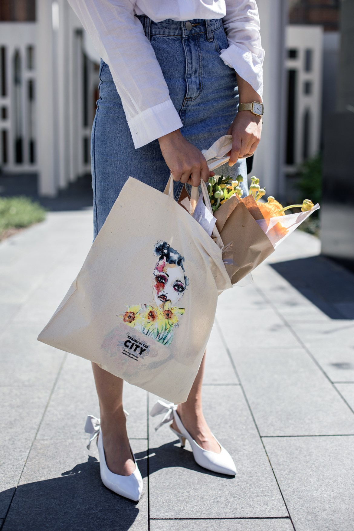City of Perth Spring in the City tote bag