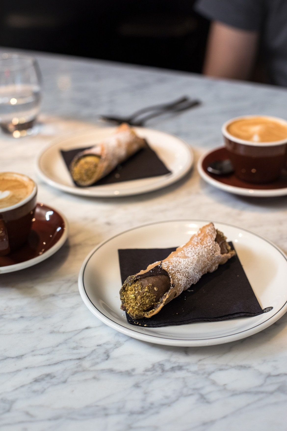 Cannoli and coffee at Gazette in Print Hall in Perth for the express lunch special as a part of Spring in the City festival