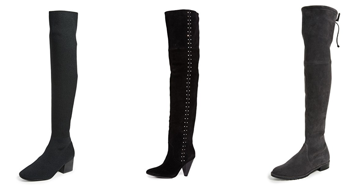 Shopbop Black Friday sale picks with Inspiring Wit Fashion blogger Jenelle over the knee boots from Stuart Weitzman, Sol Sana and Joie