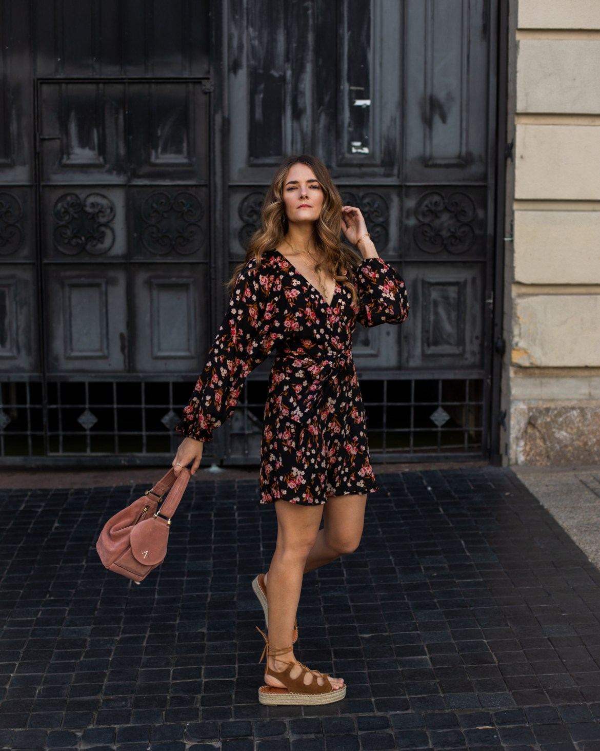 A.L.C. dress and Alohas Sandals worn by fashion and travel blogger Jenelle Witty from Inspiring Wit