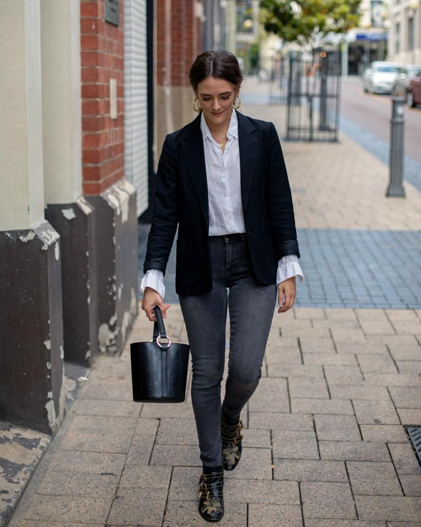 black blazer outfit idea