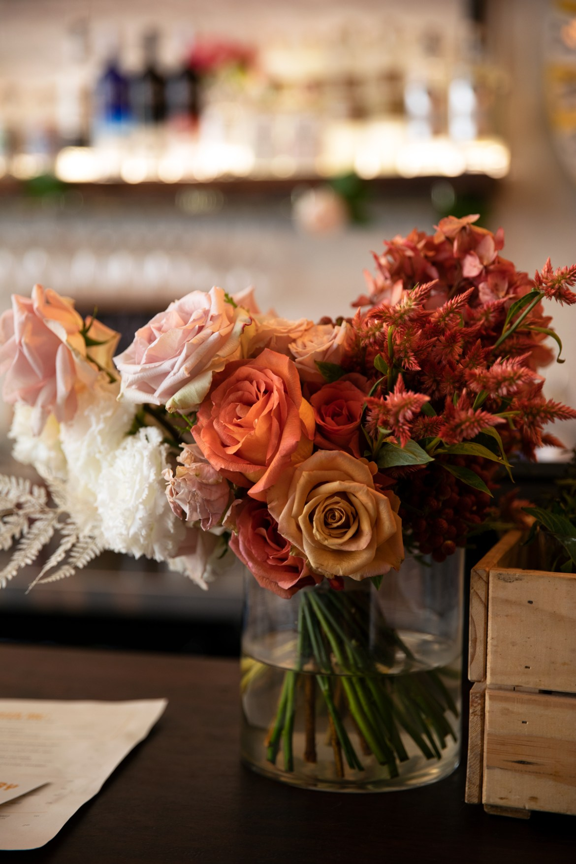 Valentine's day roses at the Flour Factory