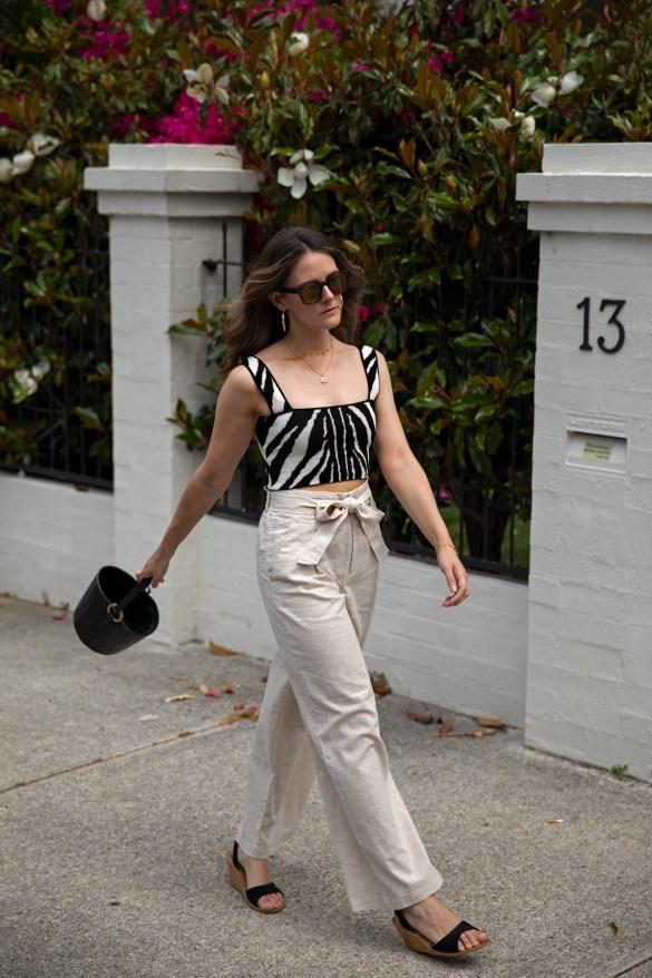 Animal Print zebra crop top from Shopbop worn street style photo by Inspiring Wit