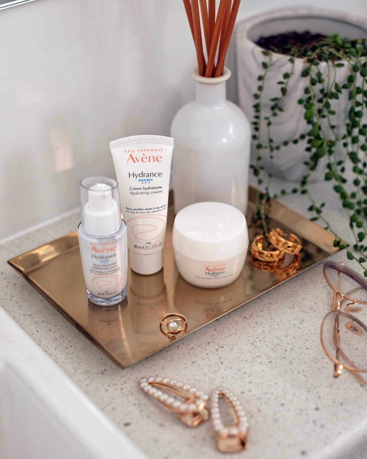 Avene Hydrance range in my bathroom