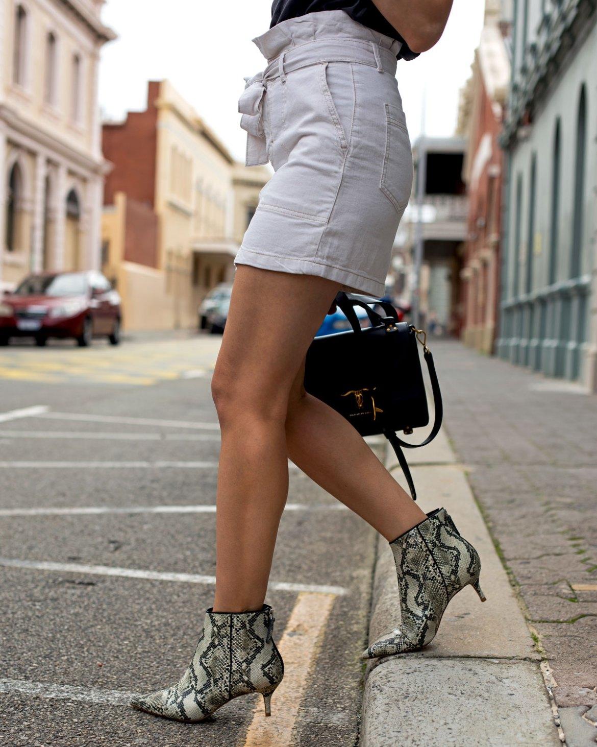 snake skin print shoes