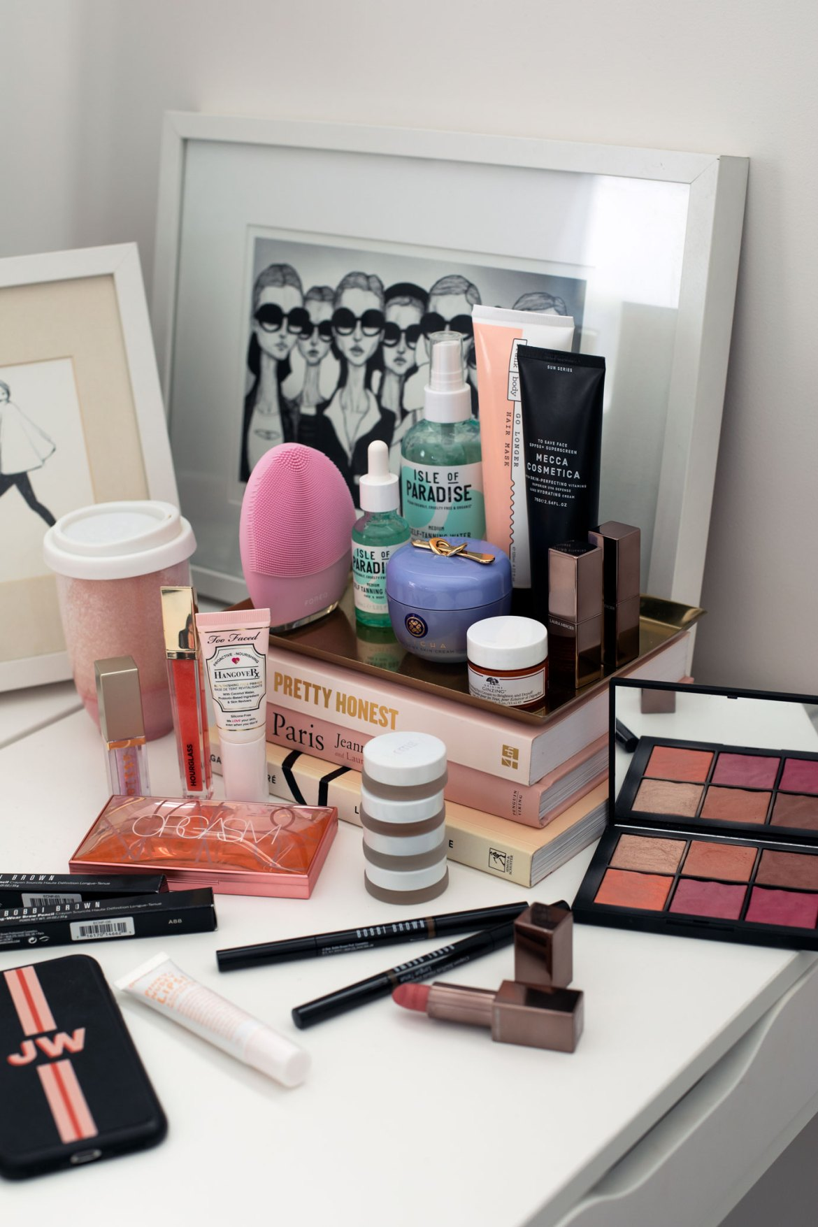 makeup and skincare products from Mecca
