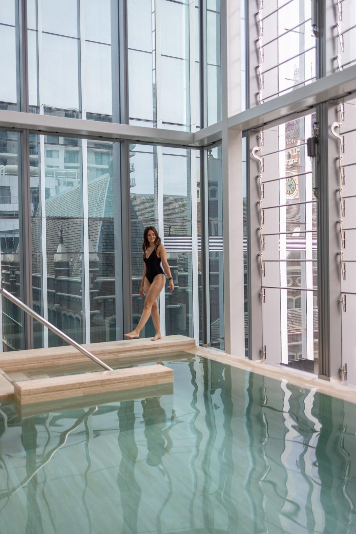 Indoor pool goals at Como the Treasury