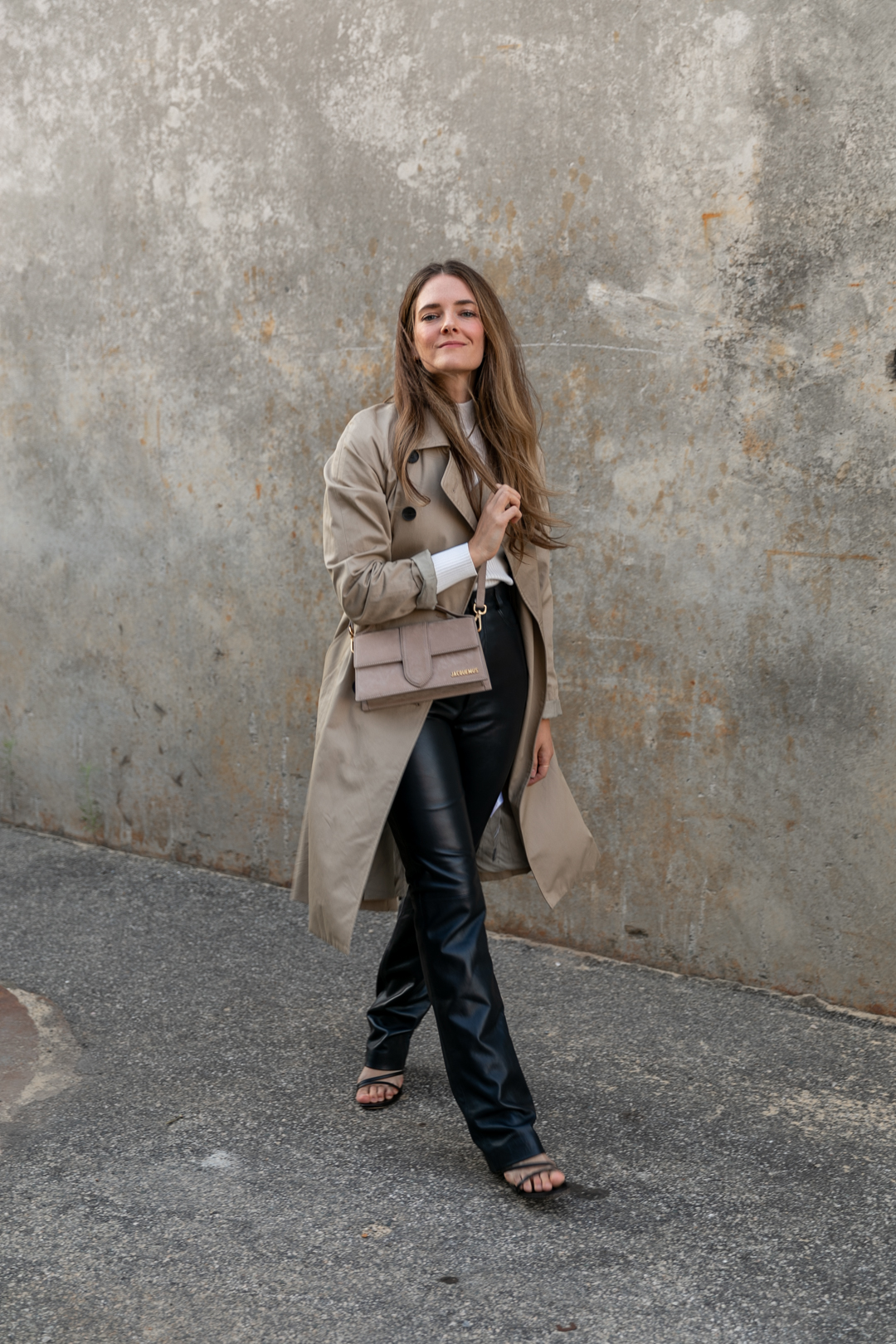 how to wear leather or vegan leather pants