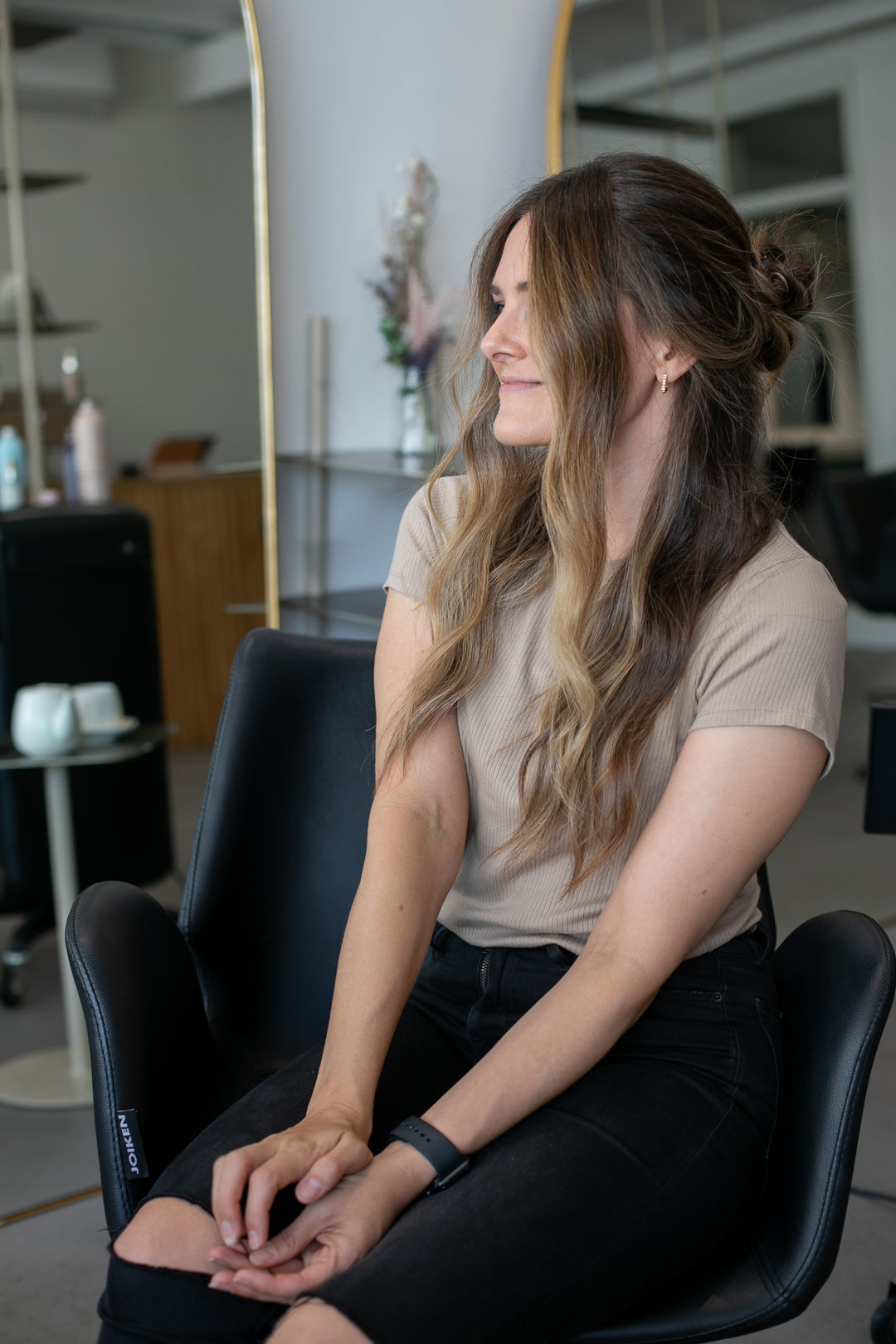 three hairstyles with waves