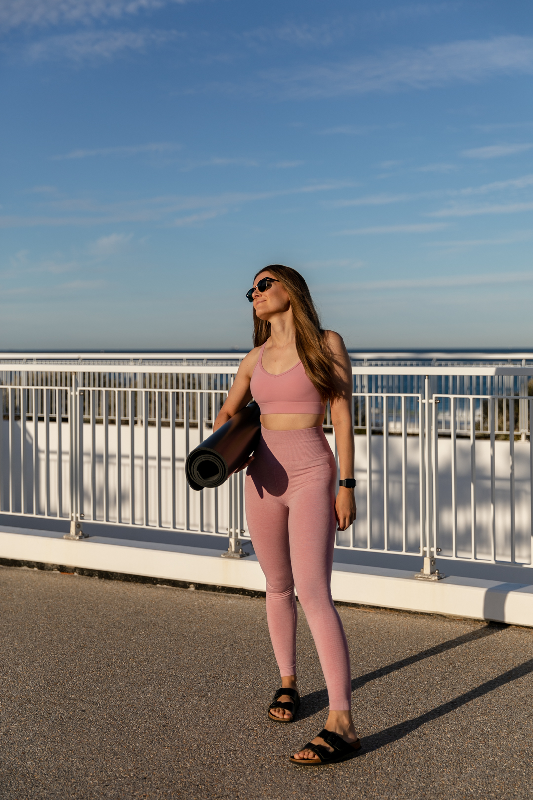 Activewear in pale pink from Lorna Jane