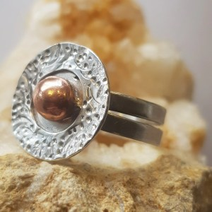 Round Silver & Copper Ring