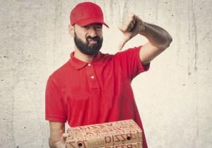 Grau de satisfação com delivery