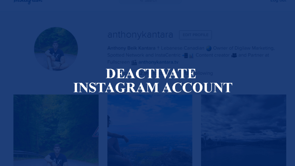 deactivate instagram account