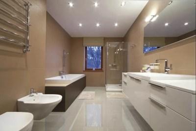 Porcelanato baño instalado