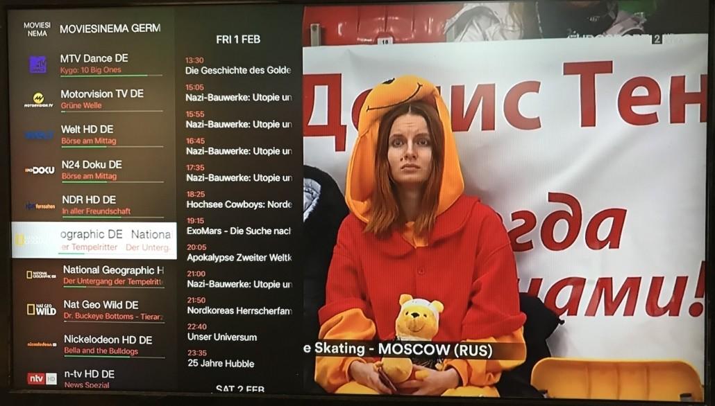 iPlayTV - Kanalenlijst met EPG