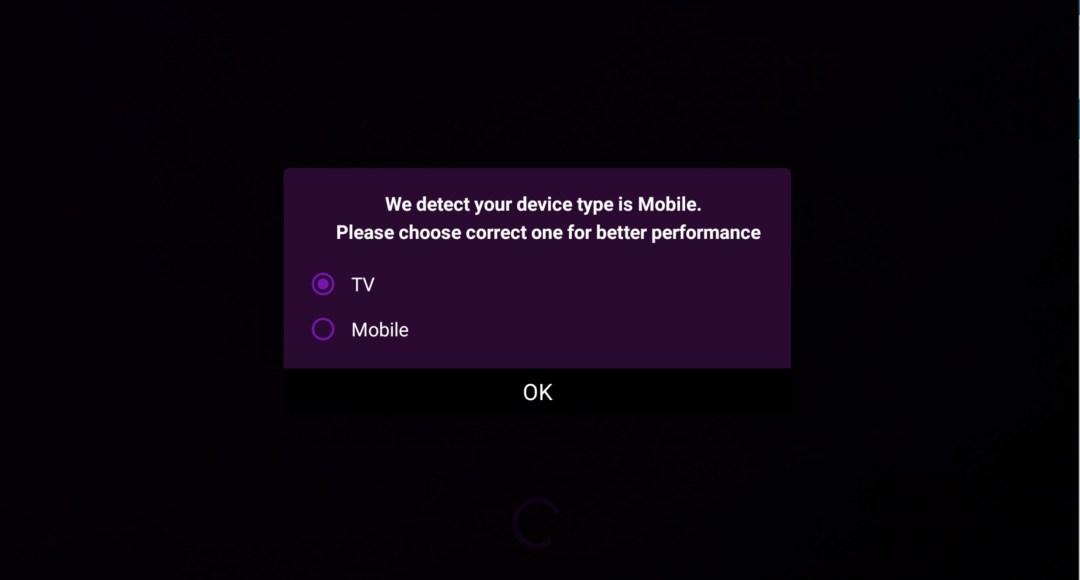 Installeer IPTV Smart Purple - kies de weergavemodus