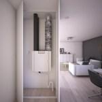 Compact ventilatietoestel voor appartementen en vervangingsmarkt