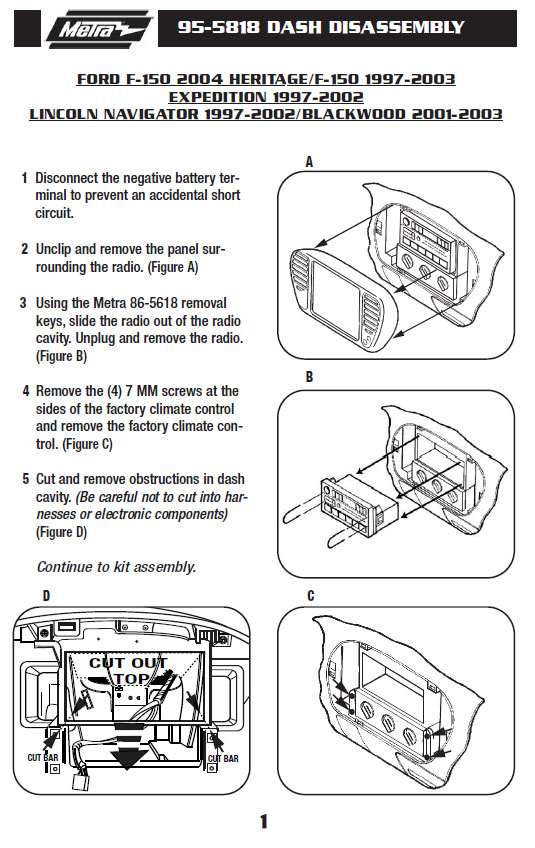 97 ford expedition radio wiring diagram  standard phone