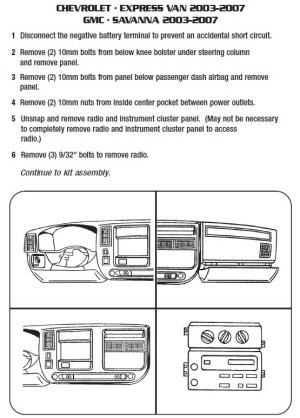 2004 Gmc Savana Installation Parts, harness, wires, kits