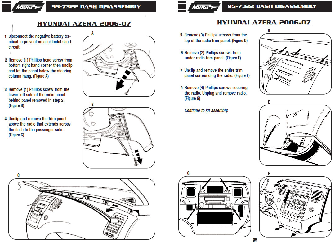 Hyundai Azera Installation Parts Harness Wires