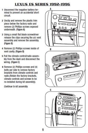 1995LEXUSES300installation instructions