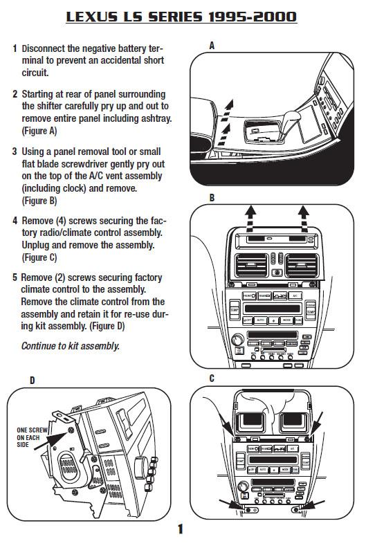 Lexus Ls400installation Instructions