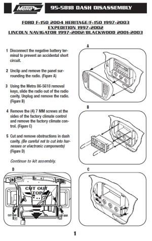 1997FORDEXPEDITIONinstallation instructions