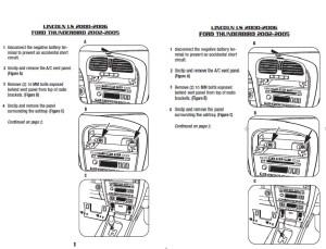 2002FORDTHUNDERBIRDinstallation instructions