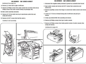 2003HUMMERH2installation instructions