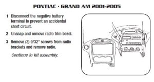 2003PONTIACGrand Aminstallation instructions