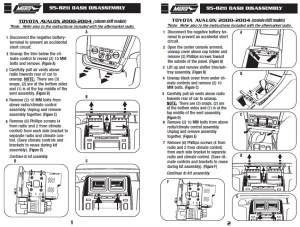 2004TOYOTAAVALONinstallation instructions