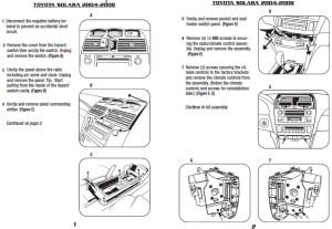 2004TOYOTASOLARAinstallation instructions