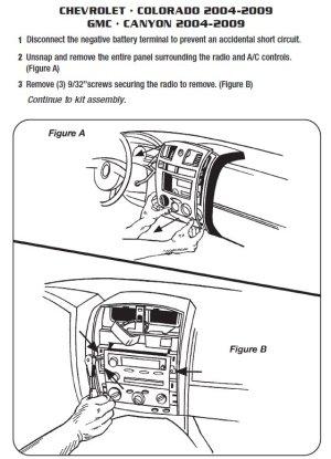 2005CHEVROLETCOLORADOinstallation instructions
