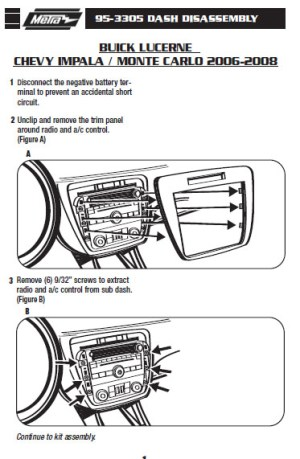 2007CHEVROLETIMPALAinstallation instructions