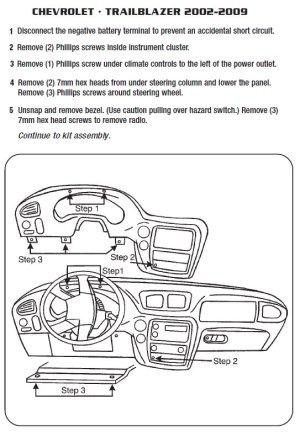 2007CHEVROLETTRAILBLAZERinstallation instructions