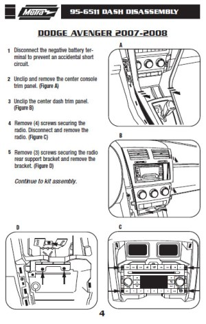 2007DODGEAVENGERinstallation instructions