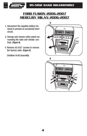 2007FORDFUSIONinstallation instructions