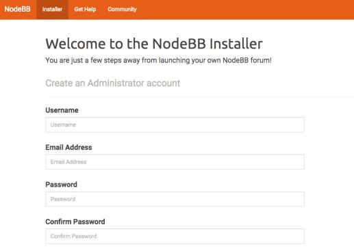 NodeBB admin data