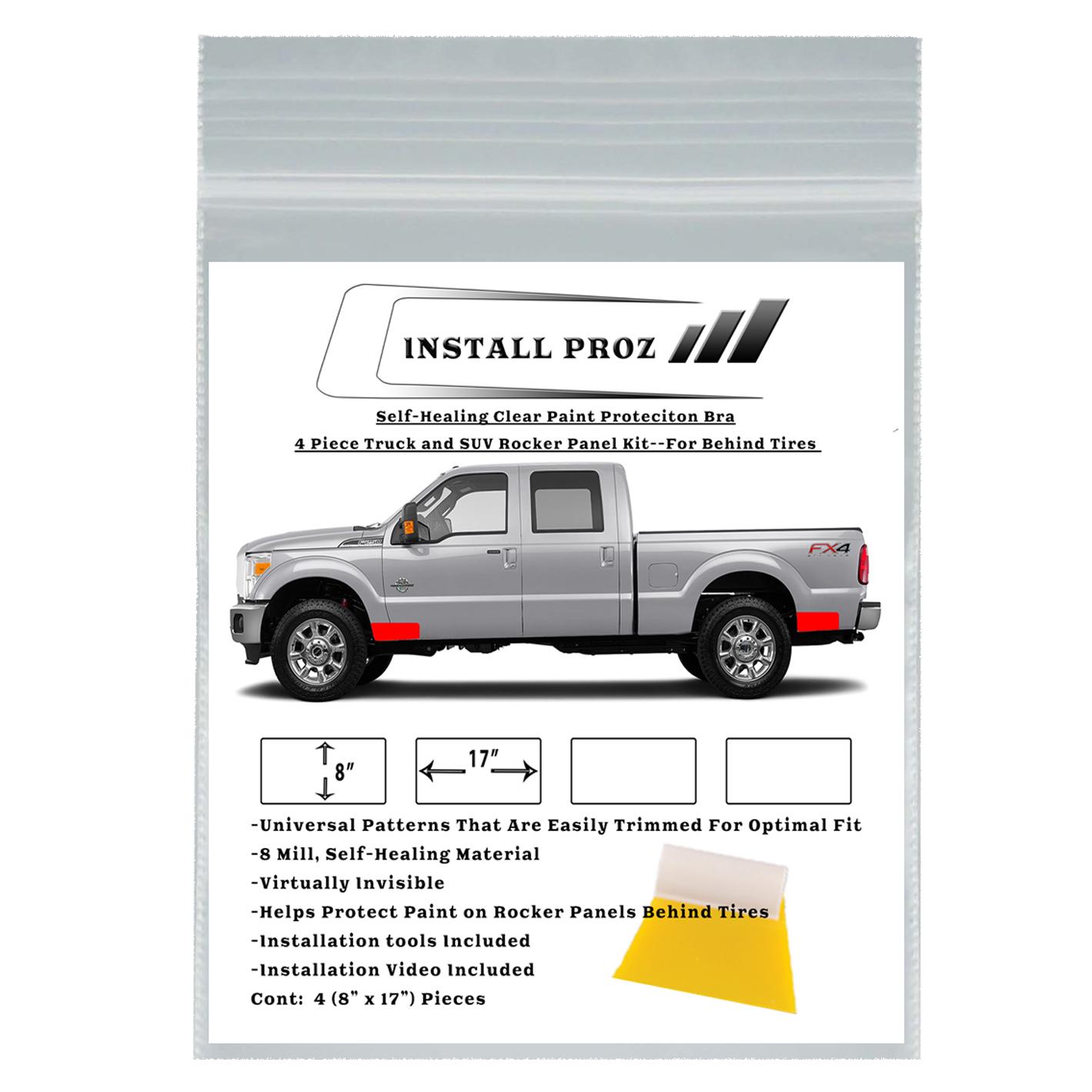 Clear Paint Protection Film--4 Piece Universal Rocker Panel Kit