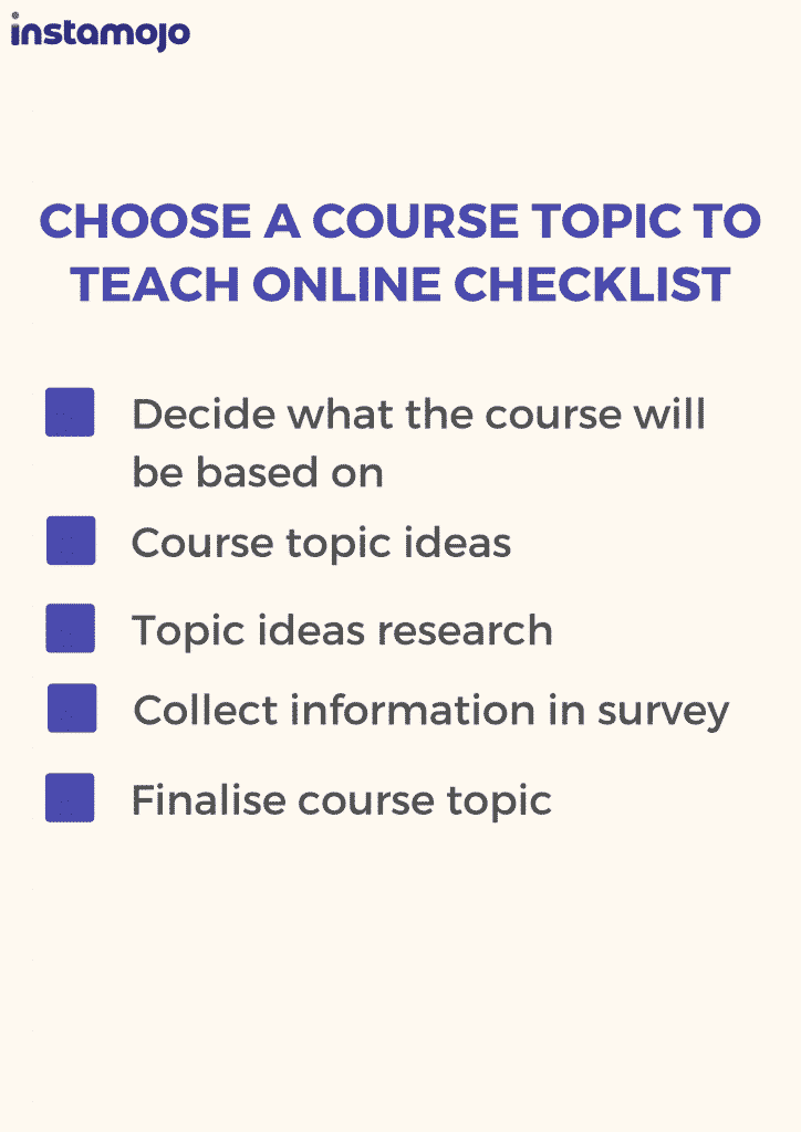 how to choose what course to sell online