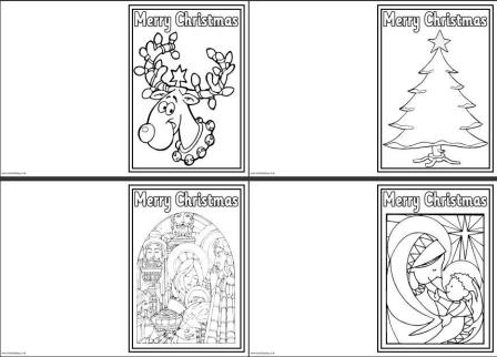 colorable christmas cards christmas card and new year greeting