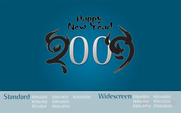 instantShift New Year Wallpaper