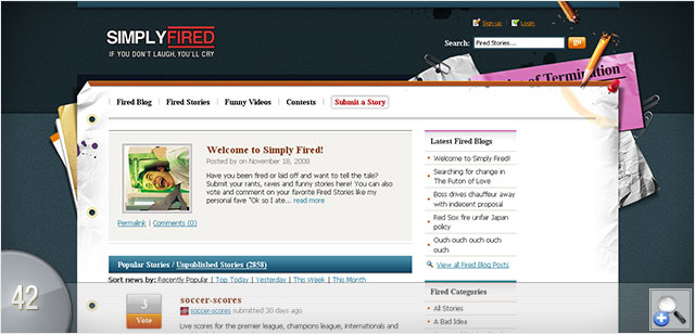 Website With Top-View