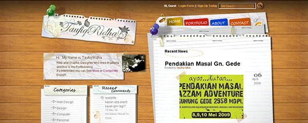 instantShift - Beautiful Website Designs Using Office Stationery